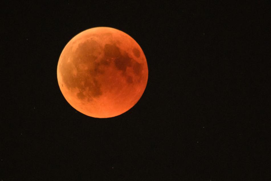 Der Blutmond in seiner ganzen Pracht! So zeigte er sich unter anderem am Himmel über München.