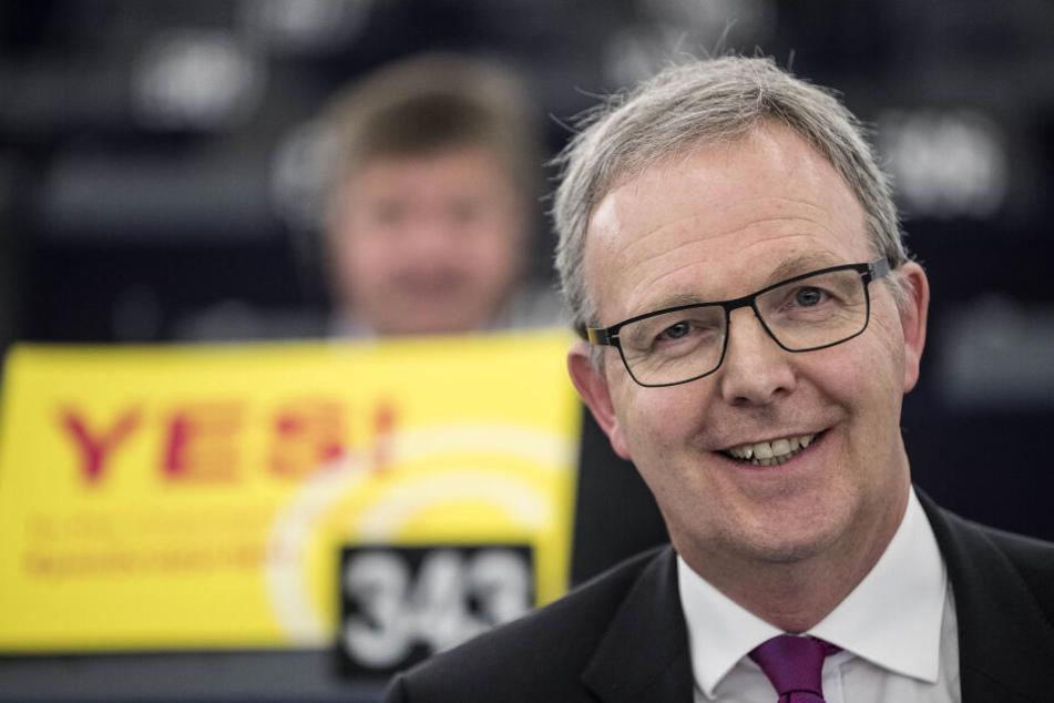 Axel Voss, CDU-Europapolitiker. Der der CDU-Europapolitiker hattean die Abgeordneten appelliert, der Reform zuzustimmen.