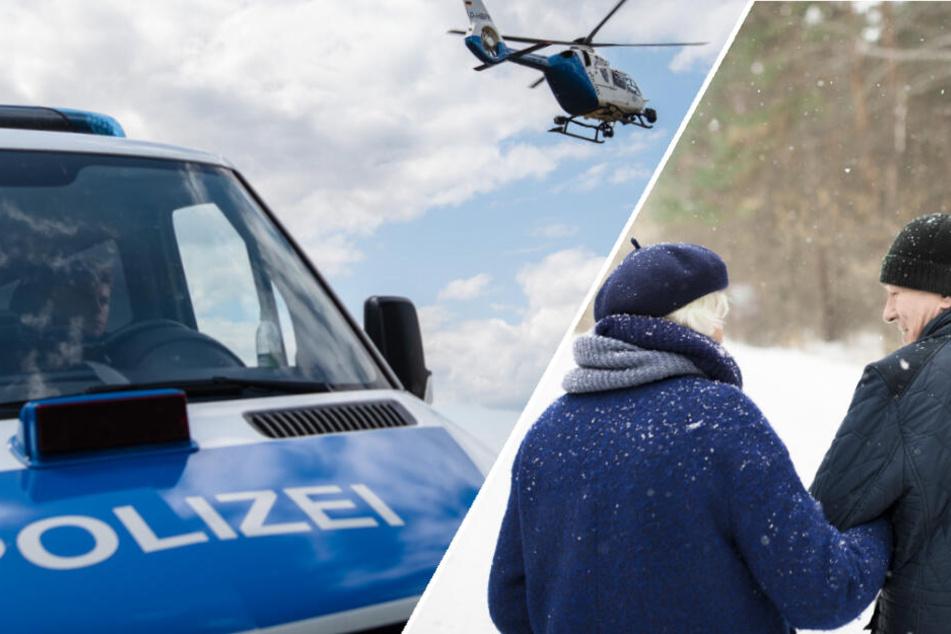 Senioren verirren sich im Wald: Polizei rückt mit Suchhunden und Hubschrauber aus