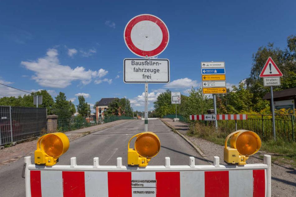 Die Cainsdorfer Brücke ist in einem schlimmeren Zustand als befürchtet. Nach Ende der Bauarbeiten gilt Tempo 10!