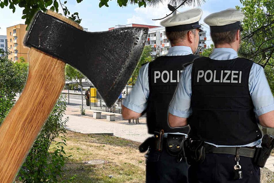 Axt-Attacke in Gorbitz! Mann prügelt auf Concierge ein