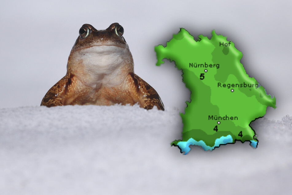 Schon wieder Schnee! Jetzt wird's wieder ungemütlich in Bayern