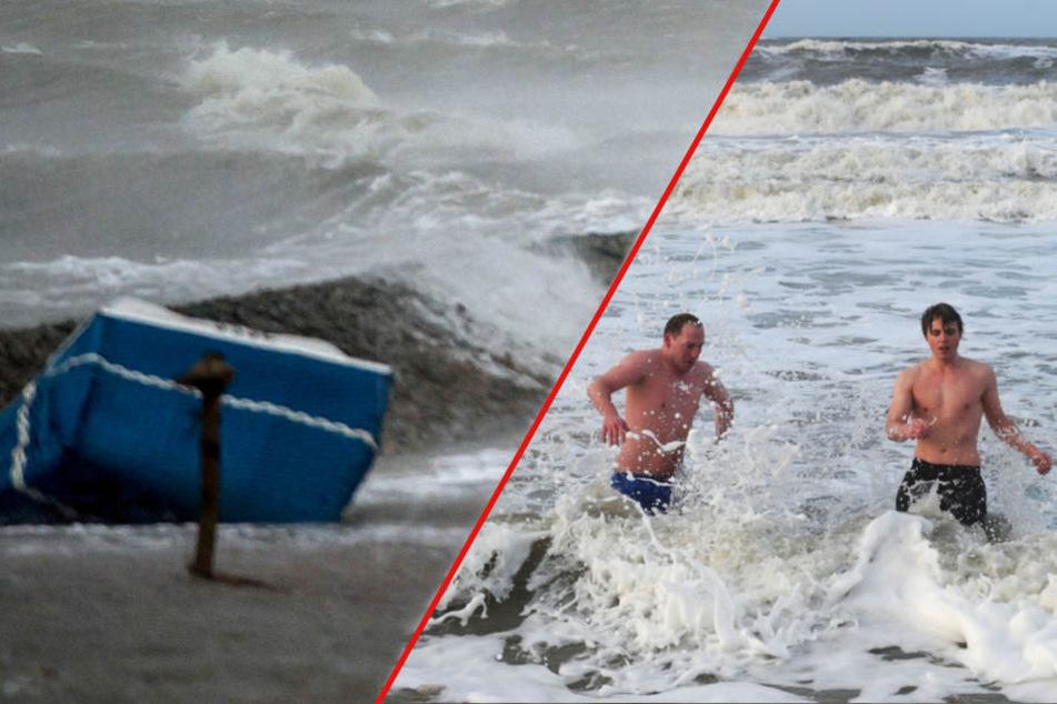 Sturmflutgefahr an der Ostsee! Neujahrsbaden abgesagt