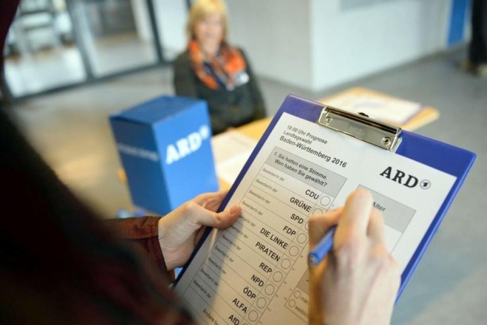 So sieht ein Fragebogen von Forschern an den Wahltagen aus.
