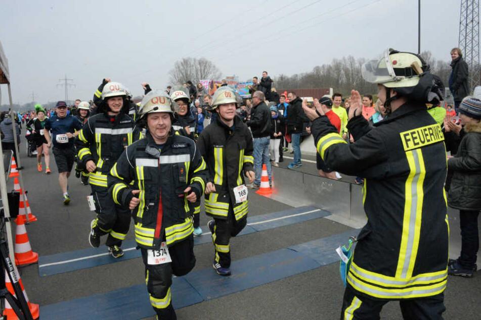 Auch die Feuerwehr stellte ihre Sportlichkeit unter Beweis.