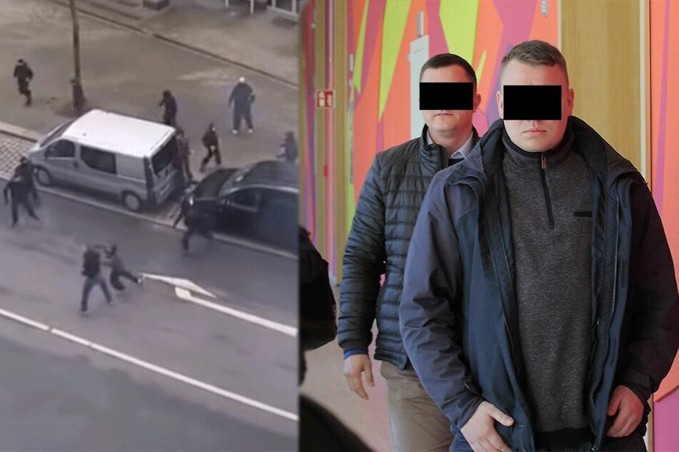 Hooligan-Schlacht an der Berliner Straße: Dynamo-Schläger wird Video zum Verhängnis