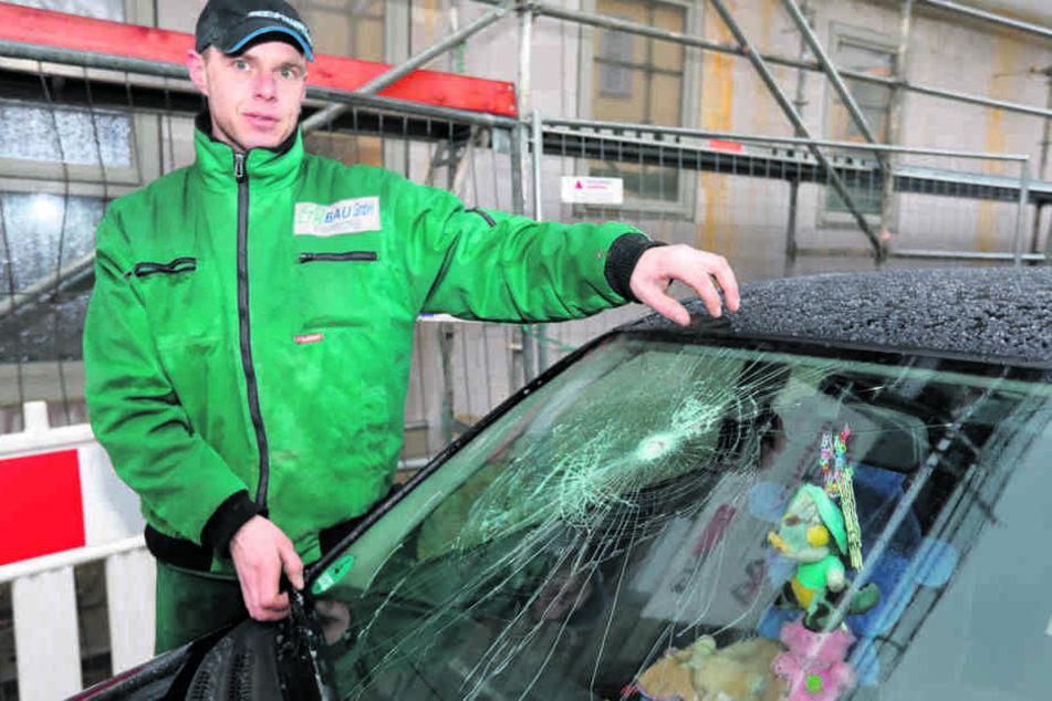 Das Auto von Heiko Fechner (36) wurde übel attackiert.