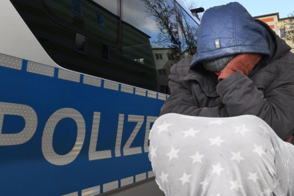 Einem Obdachlosen sollte geholfen werden, doch plötzlich rastete er aus