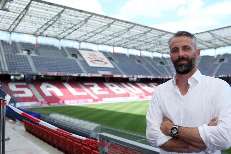 Marco Rose (41) in der Red Bull Arena in Salzburg. Der Trainer des österreichischen Serienmeisters könnte schon im Sommer in die deutsche Bundesliga wechseln.