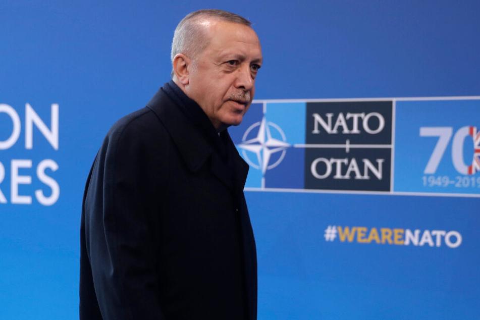 Erdogan beim Treffen der NATO-Führungskräfte in Watford Anfang Dezember.