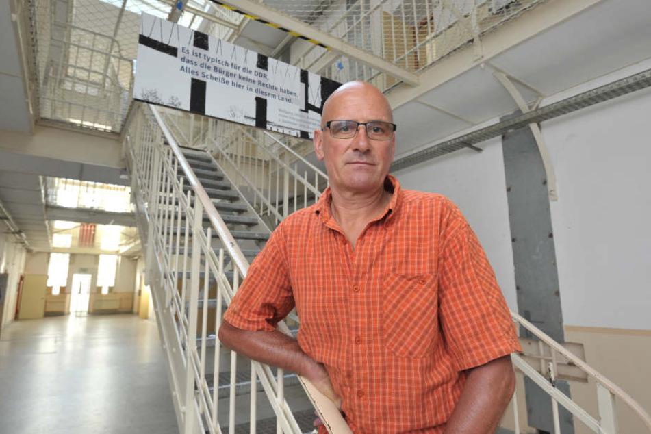 """""""Das Gebäude muss erhalten bleiben"""", fordert Radsport-Star und Ex-Insasse Wolfgang Lötzsch."""