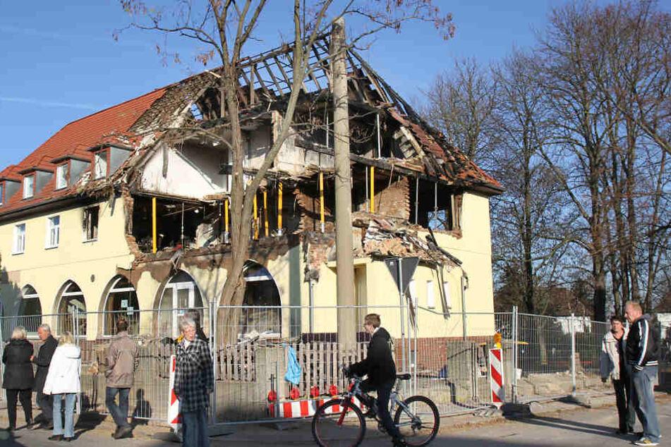 Das mittlerweile abgerissene Haus in der Frühlingsstraße.