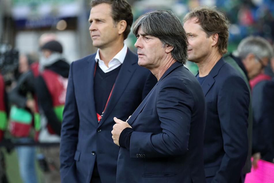 Joachim Löw, mit Co-Trainer Marcus Sorg und Direktor Oliver Bierhoff. Hat Deutschland ein Talente-Problem?