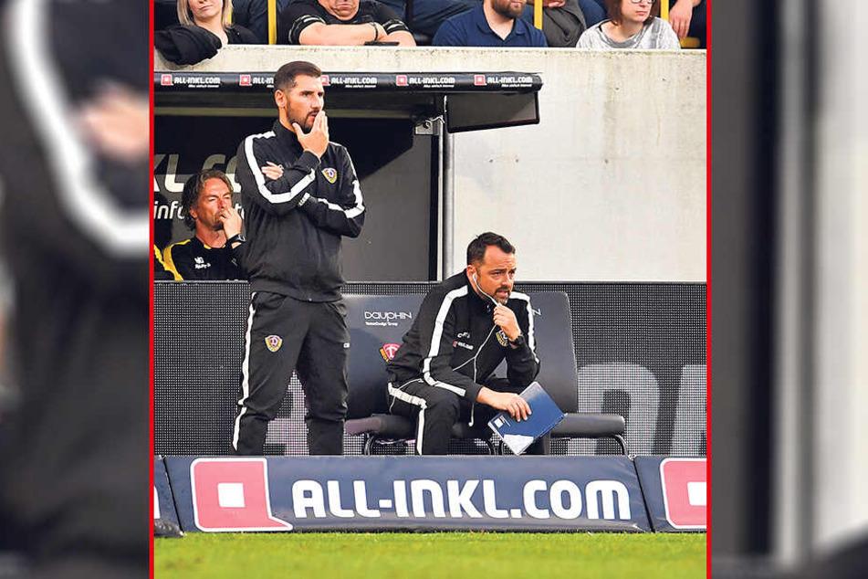 Dynamo-Coach Cristian Fiel gefiel nicht alles, was er in den 90 Minuten auf dem Rasen sah.