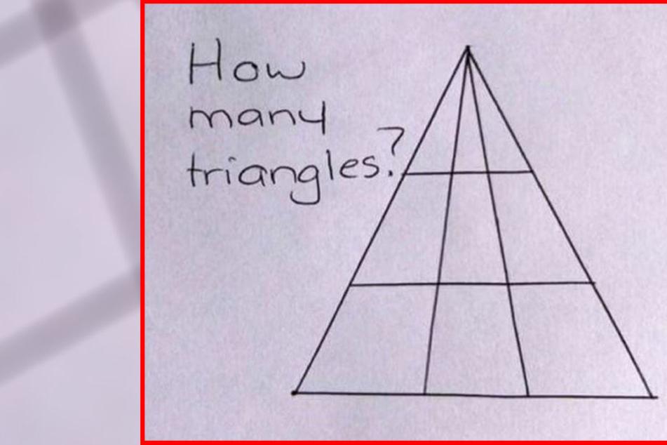 Wie viele Dreiecke siehst du?