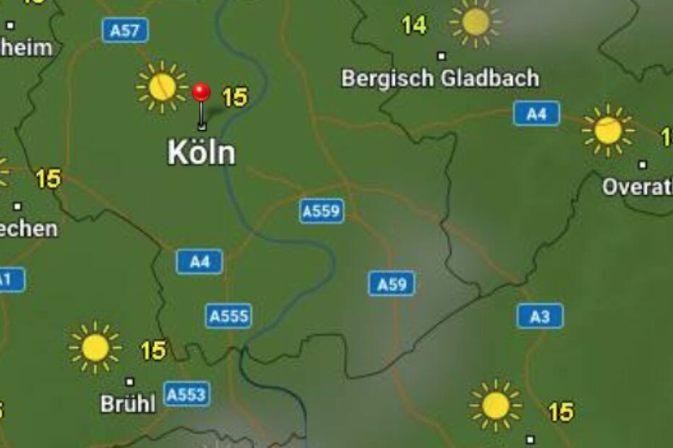 Laut WetterOnline.de wird es in NRW auch nicht mehr zu warm am Donnerstag.