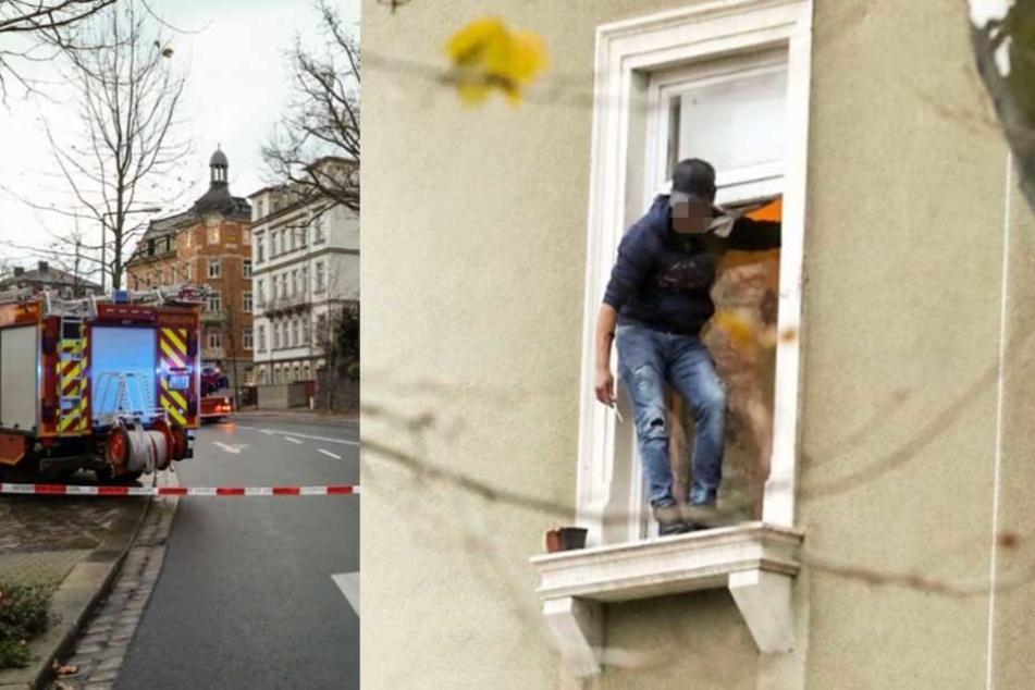 Bewaffneter Asylbewerber droht aus Fenster zu springen