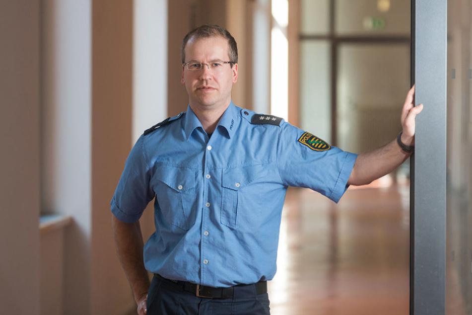 Polizeihauptkommissar Stephan Schulz (36) jagt Dresdens Taschendiebe.