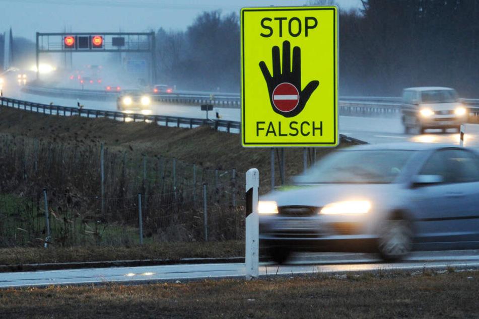 Tödliche Gefahr: Geisterfahrerin auf A72 unterwegs