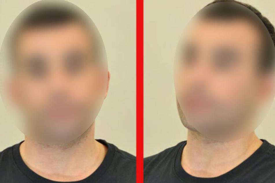 Mit Fahndungsbildern sucht die Polizei nach den geflohenen Hamed Mouki.