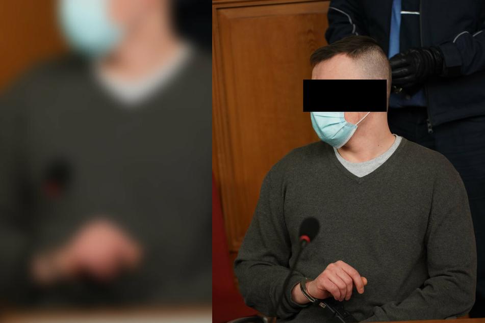 Michal R. (28) legte auf Wut über einen Freund in Uhsmanndorf Feuer. Nun sitzt er auf der Anklagebank.