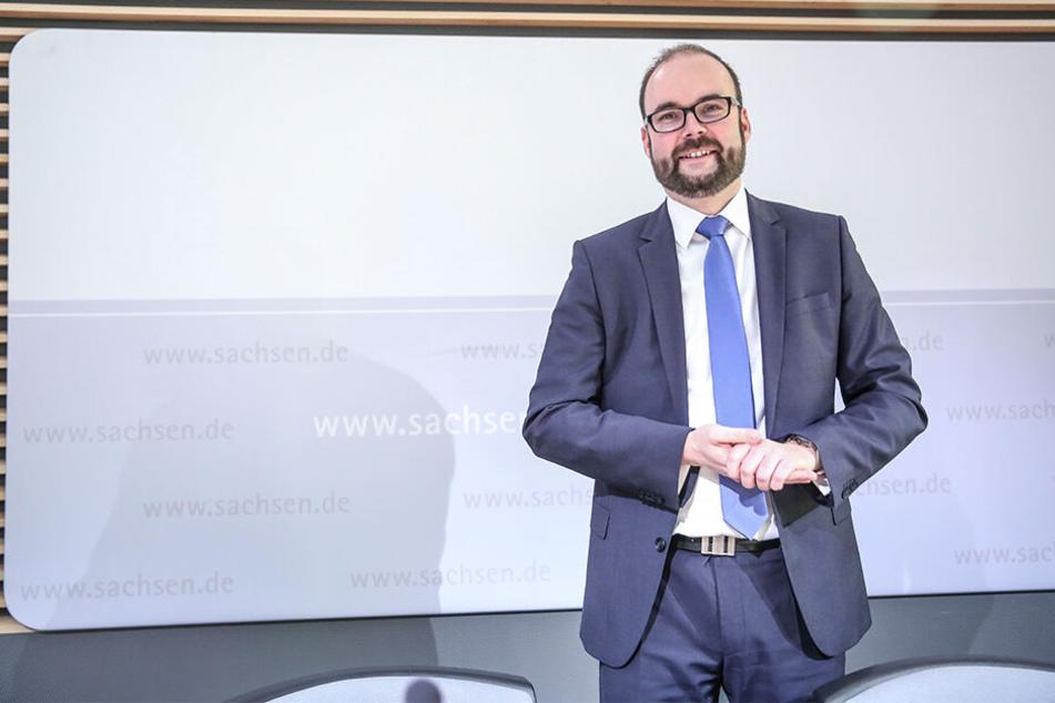 Freut sich über Bewerbungen wie noch nie: Kultusminister Christian Piwarz (43, CDU).