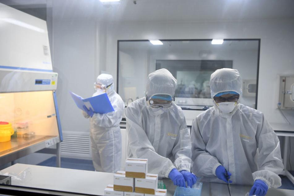 Forscher überprüfen, ob hier ein Coronavirus-Fall vorliegt.