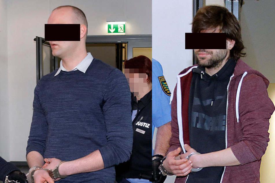 David R. (29, li.) soll ein Opfer verprügelt haben. Roland S. (18, re.) hatte den späteren Opfern rund 800 Euro geliehen und wollte sein Geld zurück
