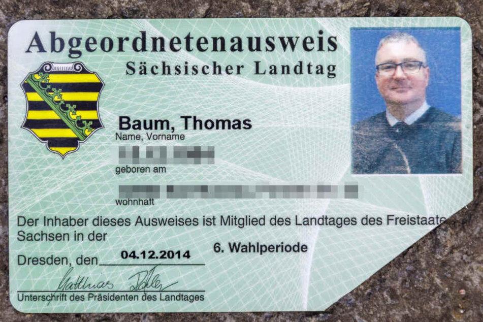 Ungültig ohne Ecke: der bisherige Ausweis für den Landtag.