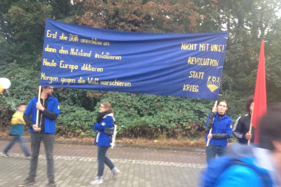 Am 2. Oktober wurden diese FDJ-ler aus einer Antifa-Demo geschmissen.