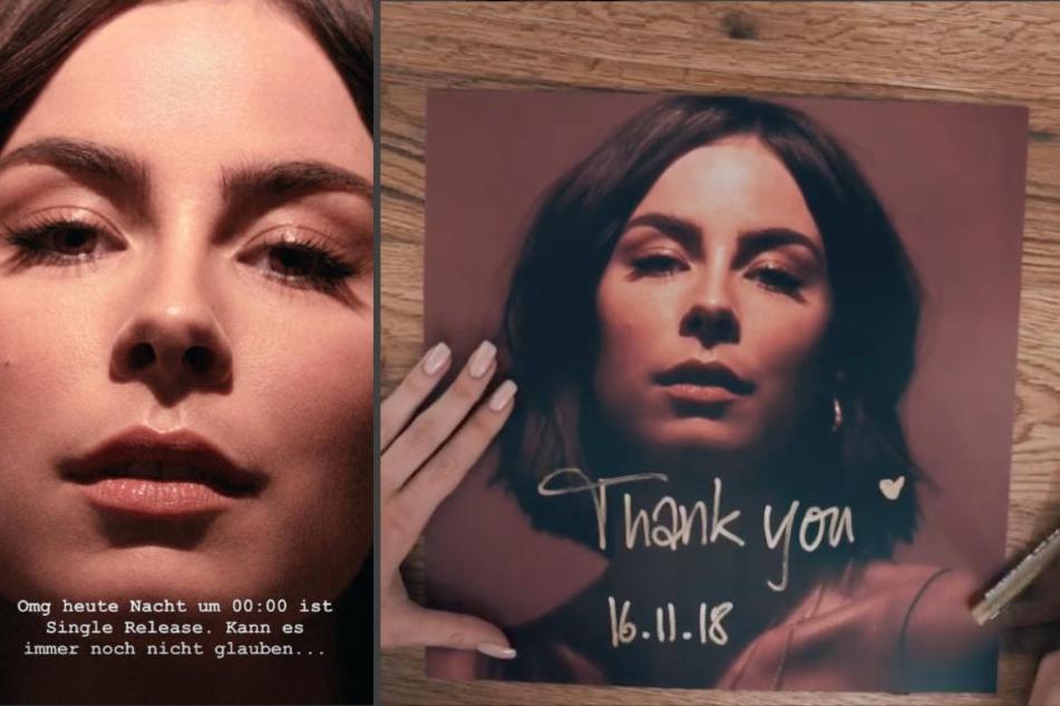 In ihrer Instagram-Story und mit einem Posting kündigte Lena Meyer-Landrut (27) die neue Single an. (Bildmontage)