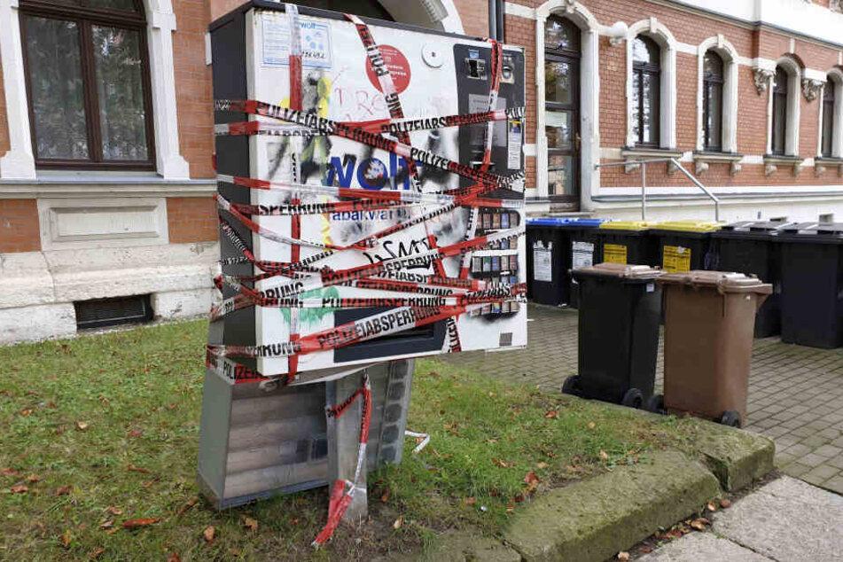 Lauter Knall in Schloßchemnitz: Zigarettenautomat gesprengt