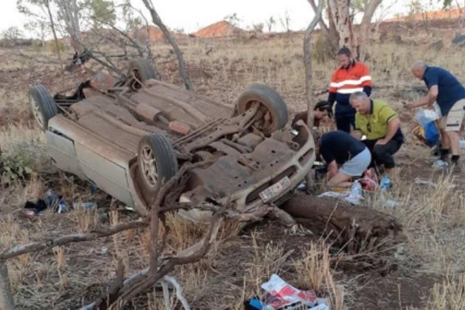 Robyn und Elyse erlitten mit ihrem Wagen mitten im australischen Nirgendwo einen verheerenden Unfall.