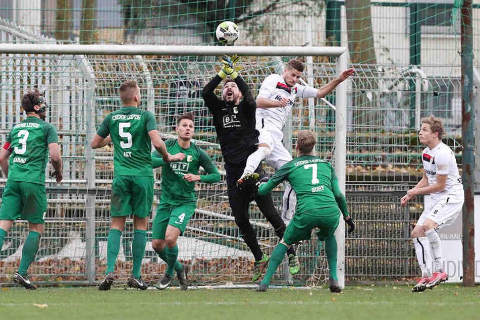 Nach dem Führungstreffer von Alexander Bury drängte Budissa Bautzen auf den Führungstreffer. Doch die BSG konnte das 1:0 verteidigen.