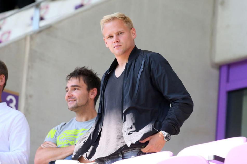 Sören Bertram erlebte die letzten beiden Heimspiele gegen St. Pauli und Sandhausen von der Tribüne aus - eine schwere Zeit für ihn.