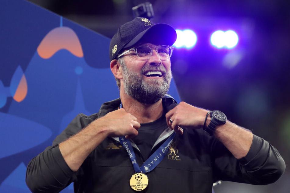 Jürgen Klopp freut sich über den Champions League Sieg seiner Mannschaft. (Archivbild)