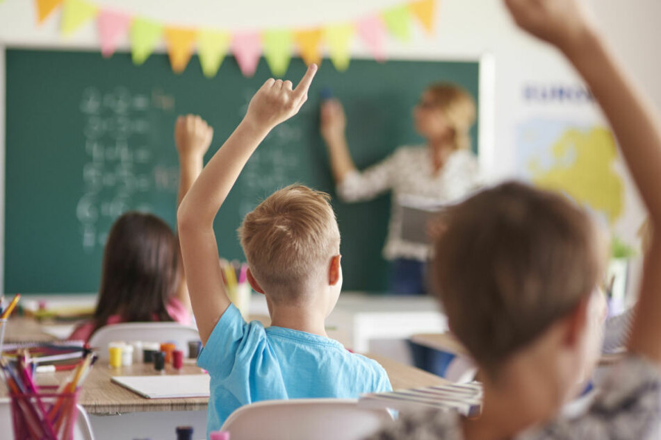 Eine Schulklasse im Unterricht.