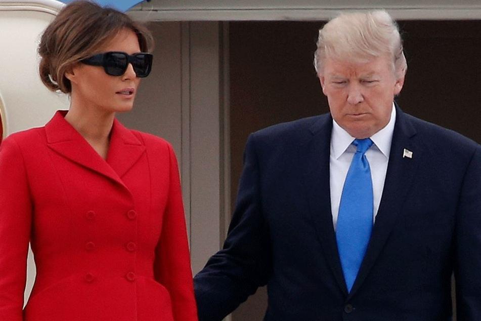3200 oder doch nur 1100 Kilometer? Trump (71) weiß es nicht so genau und Melania (47) wird ihm wenig helfen können...