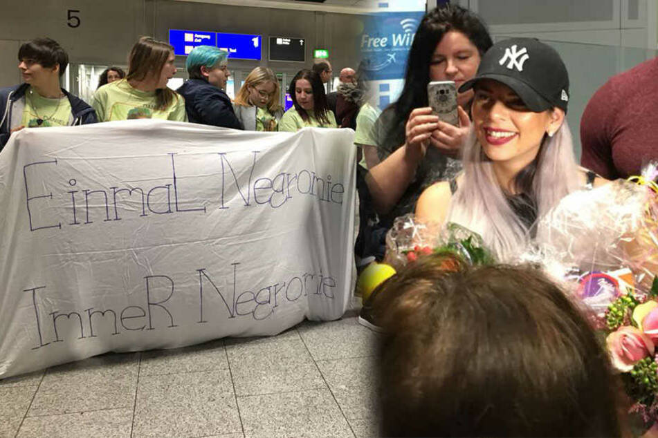 Ankunft in Frankfurt: Dschungel-Stars werden von ihren Fans umlagert
