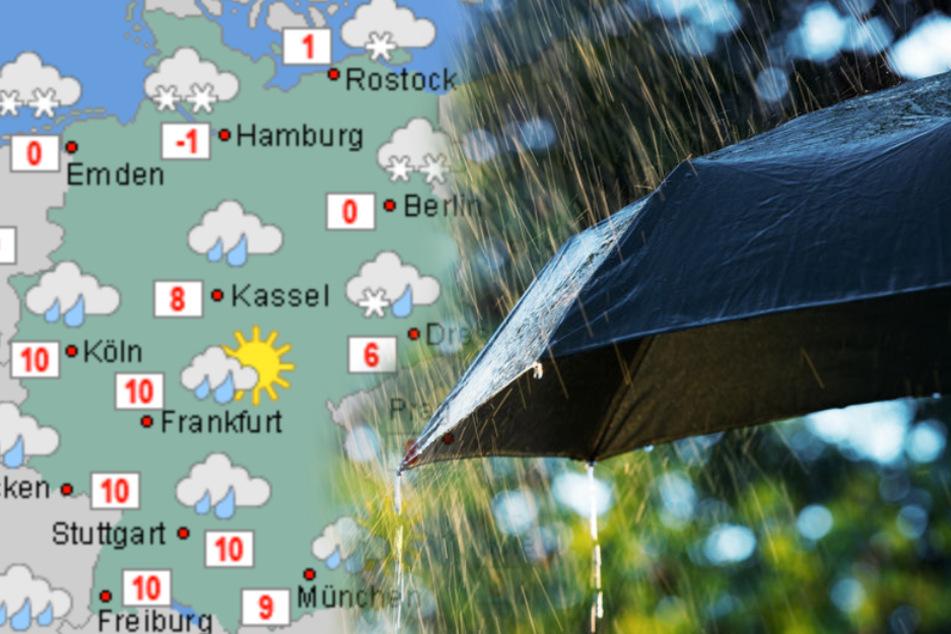 """""""Olaf"""" und """"Malte"""" spalten Deutschland: Frost im Norden, mild im Süden"""