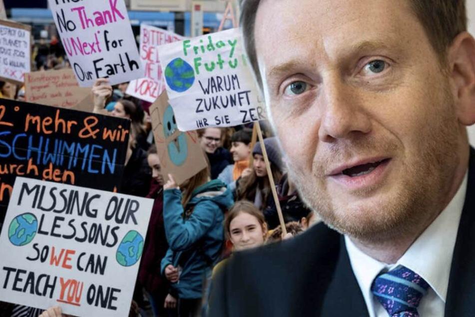 Ministerpräsident Kretschmer diskutierte mit hunderten Schülern.