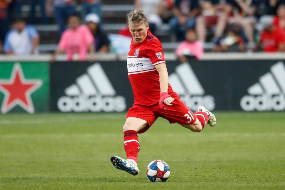 Bastian Schweinsteiger im Trikot von Chicago Fire. Doch so sehr ihm seine neue Heimat gefällt, seine Fans und Kollegen aus München haben ihn nicht vergessen.