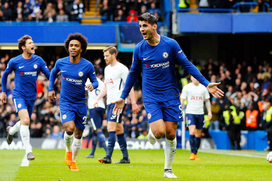 Ein Transfer von Chelseas Alvaro Morata (r.) erscheint trotz der schnellen Drähte nach dem Pulisic-Deal unwahrscheinlich.
