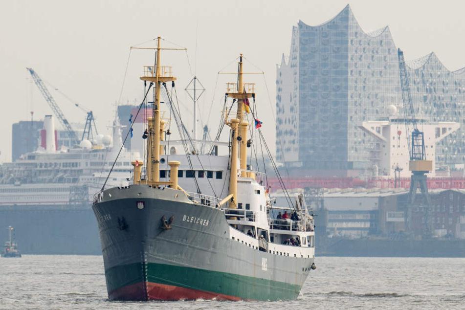 Das Museumsschiff MS Bleichen wurde elf Jahre restauriert und hat erst im März erfolgreich seine Testfahrt auf der Elbe absolviert.