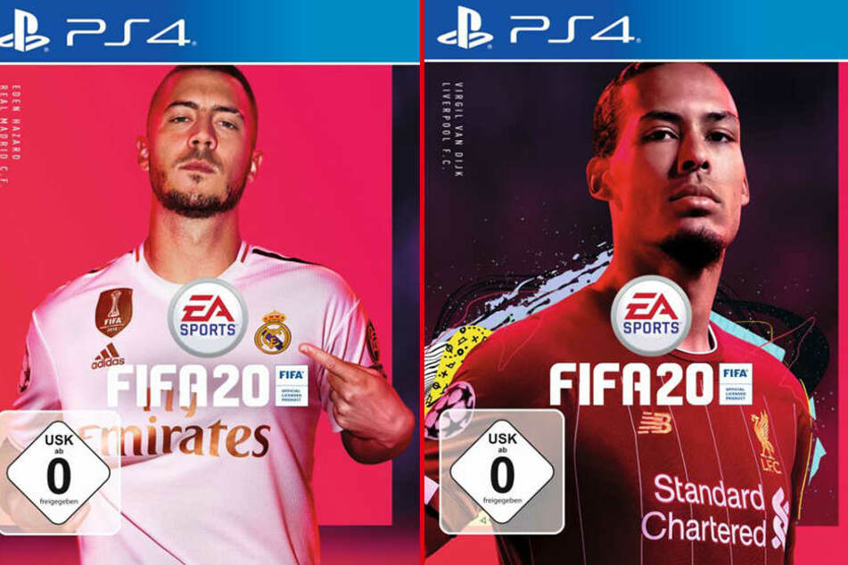Eden Hazard (28, l.) und Virgil van Dijk (28) werden auf dem Cover von FIFA 20 zu sehen sein.