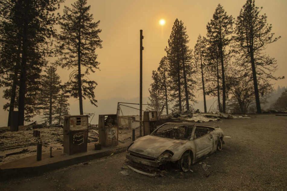 Teile Kaliforniens sehen aus wie eine Geisterstadt nach den Bränden.