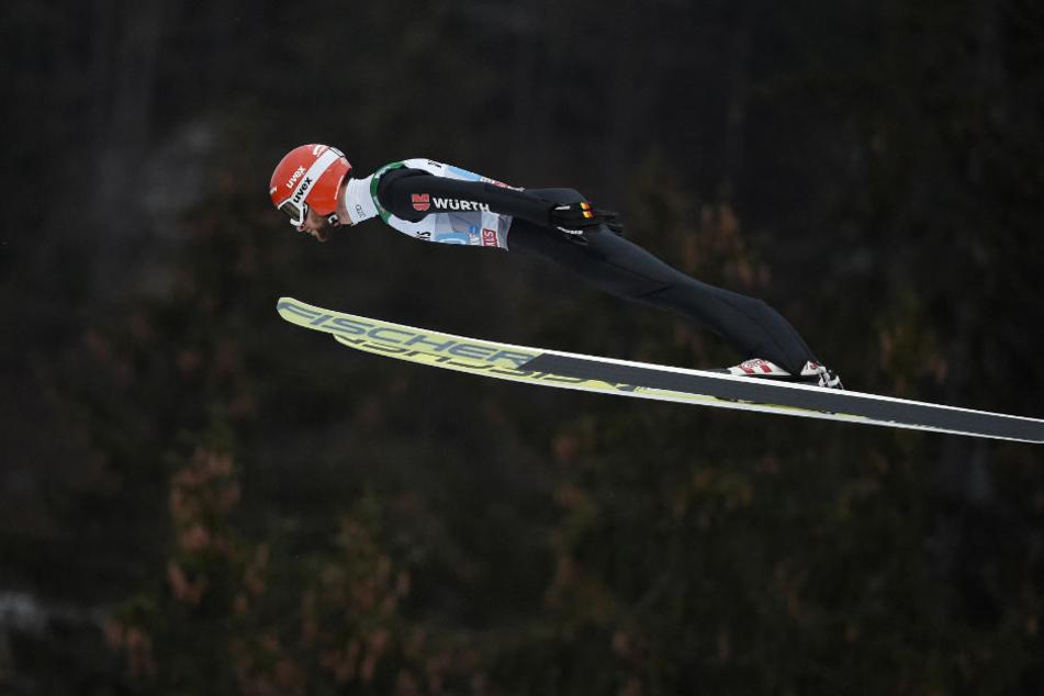 Nicht einmal 25 Zentimeter fehlten Markus Eisenbichler in Oberstdorf zum Sieg.