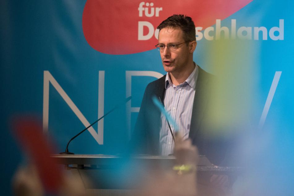 Marcus Pretzell, AfD-Landesvorsitzender in NRW, spricht auf der Landeswahlversammlung seiner Partei.