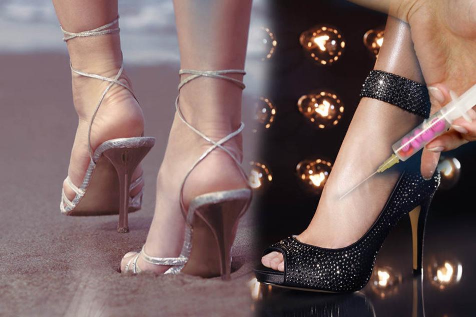 Neuer Trend: Frauen lassen sich für viel Geld Botox in die Füße spritzen.-