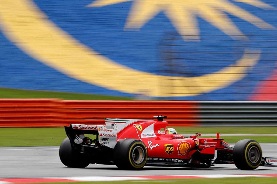 Während des Rennens, das er als Vierter beendete, war bei Sebastian Vettel noch alles in Ordnung.